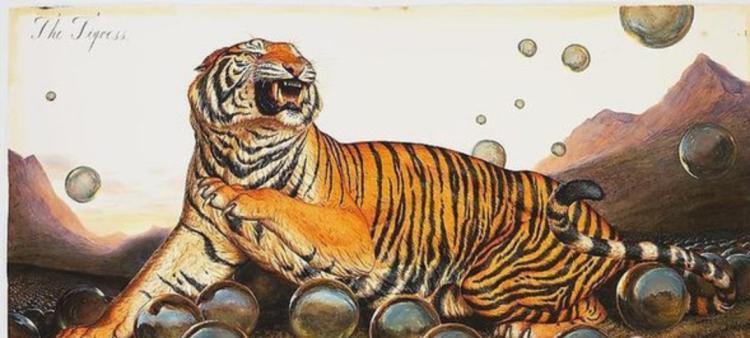 这位画家对绝种或者濒临灭绝的物种的描绘刚好迎合了